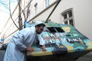 the pope is not amused, neither on tanks made in germany nor on reggae parties canceled