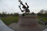 Halfpipe action in the Rheinaue Bonn